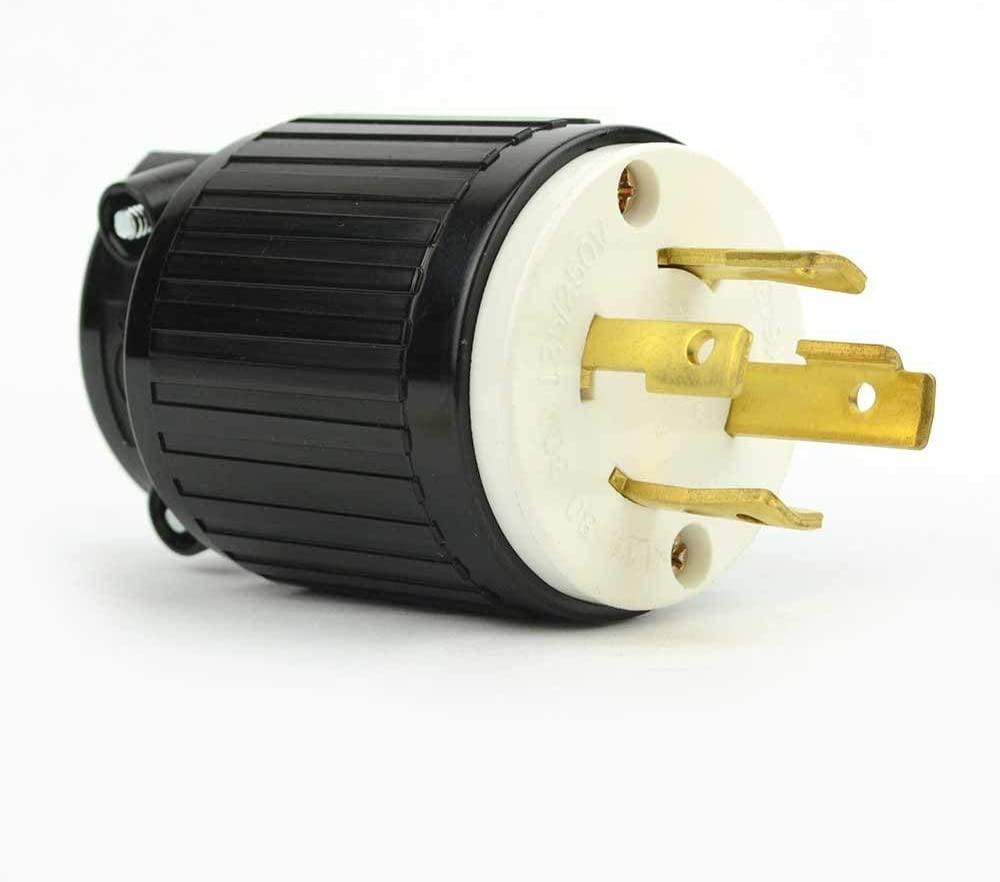 Superior Electric YGA025 Twist Lock Electrical Plug 4 Wire, 30 Amps, 125/250V, NEMA L14-30P (5)