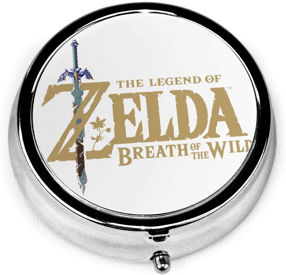 Wehoiweh The Legend of Zelda Breath of The Wild 2.0x2.0x0.7 Inch Mini Medicine Box, Full Size Printing is Easy to Carry