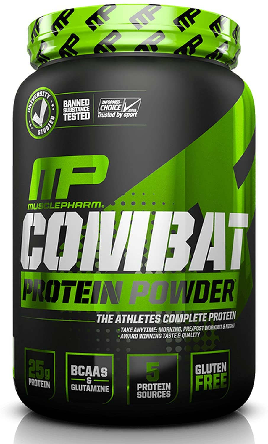 Muscle Pharm Combat Powder Advanced Time Release Protein, Triple Berry, 2 Pound
