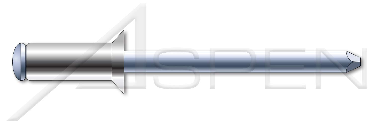 (1500 pcs) M3.2 X 12mm, ISO 15984, Metric, Blind Rivets, Flat Countersunk Head, Grooved Mandrel, A2 Stainless Steel