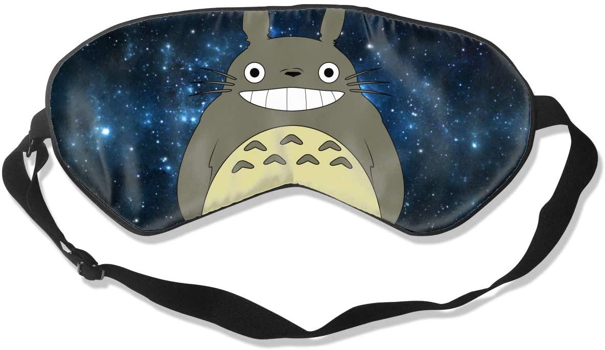 WushXiao Luanelson Totoro Fashion Personalized Sleep Eye Mask Soft Comfortable with Adjustable Head Strap Light Blocking Eye Cover