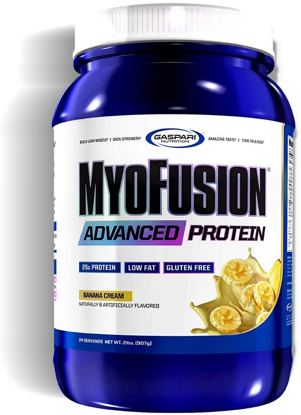 Gaspari Nutrition Myofusion Advanced Protein, Banana, 2 Pound