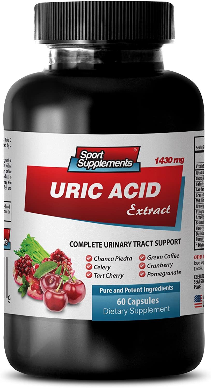 antioxidant Vitamins - URIC Acid Formula Extract 1430Mg - Urinary Flow - 1 Bottle (60 Capsules)
