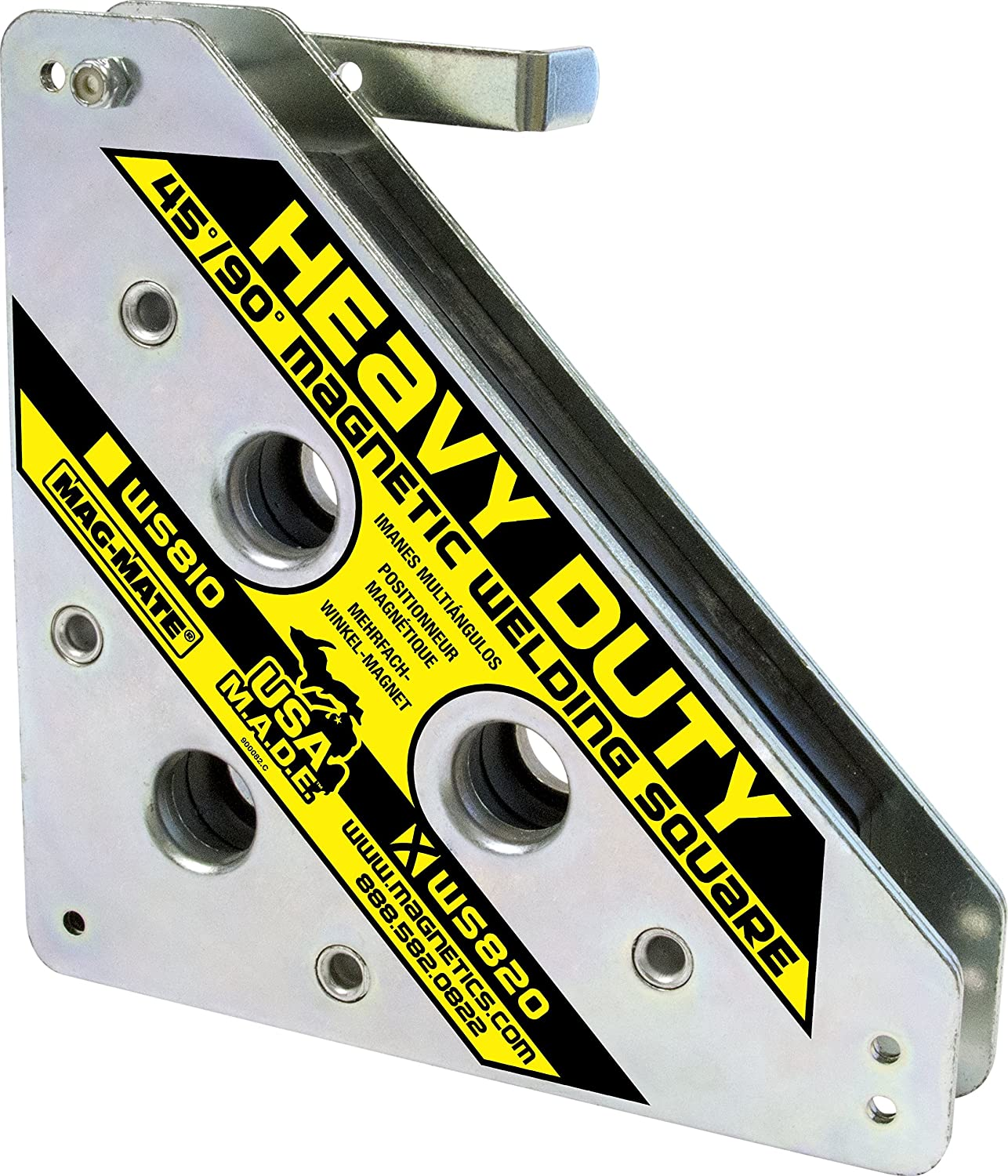 MAG-MATE WS820 Magnetic Welding Square with Release Handle and 325 lb Capacity
