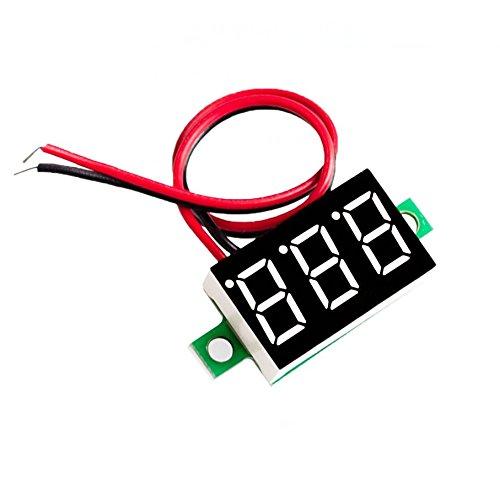Seajunn 10pcs/lot Blue Second line precision dc digital voltmeter head LED digital voltmeter DC4.5V-30V