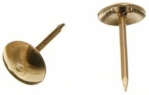 UPHOLSTERY NAIL FURNITURE STUD TACK 9MM X 16MM EB BRASS PLATED ( pack of 20 )