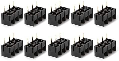 Onvas 10PCS 300V 25A Black 2/3/4PIN KF1000 10mm Pitch PCB Screw Terminal Connector - (Color: 3PIN)