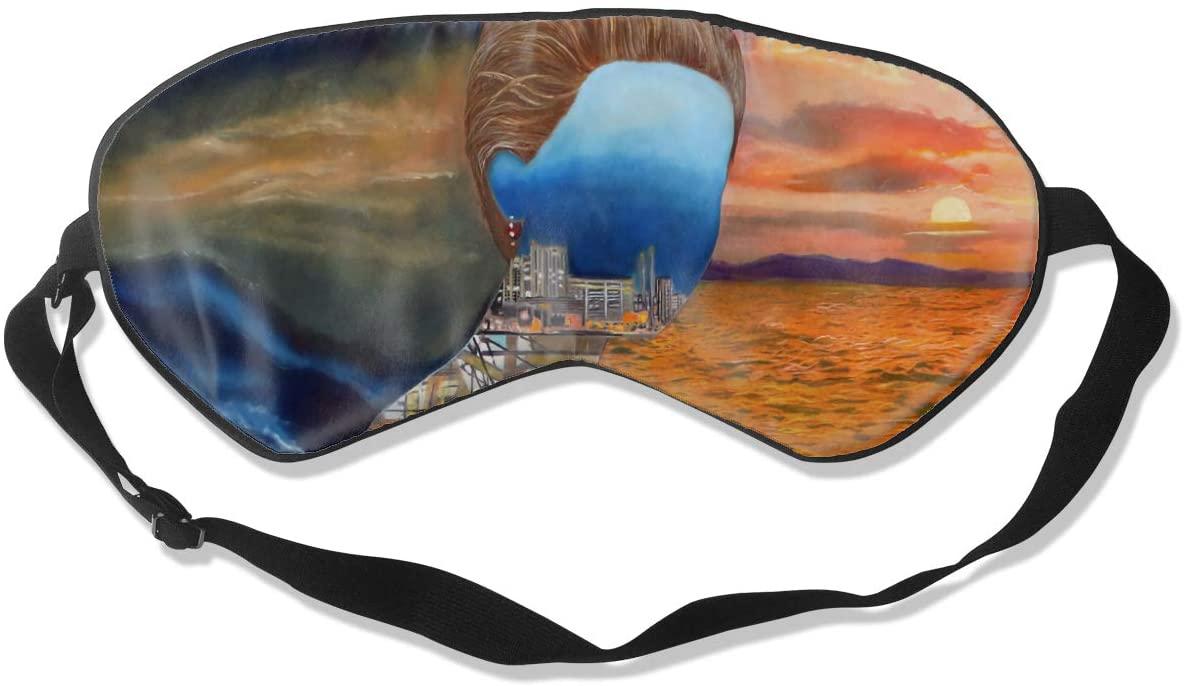 WushXiao Luanelson Hozier Sedated Fashion Personalized Sleep Eye Mask Soft Comfortable with Adjustable Head Strap Light Blocking Eye Cover