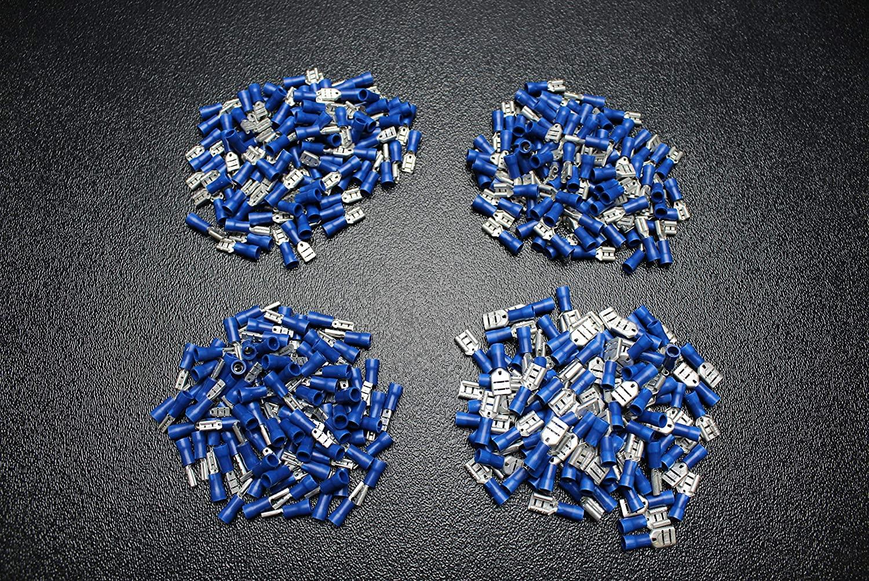 800 PK 14-16 Gauge Vinyl Quick Disconnect Female 200 PCS Each .110 .187 .205 .250