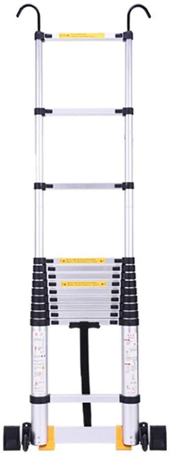 LADDERS Ladder Telescopic Ladders,17.7Ft Heavy Duty Atelescoping Ladder, Lightweight Multi-Purpose Extension Ladder for Engineering Cargo Loft, 330Lbs Capacity