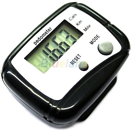 1pc Black LCD Pedometer Step Calorie Counter Walking Distance Sport Pedometer