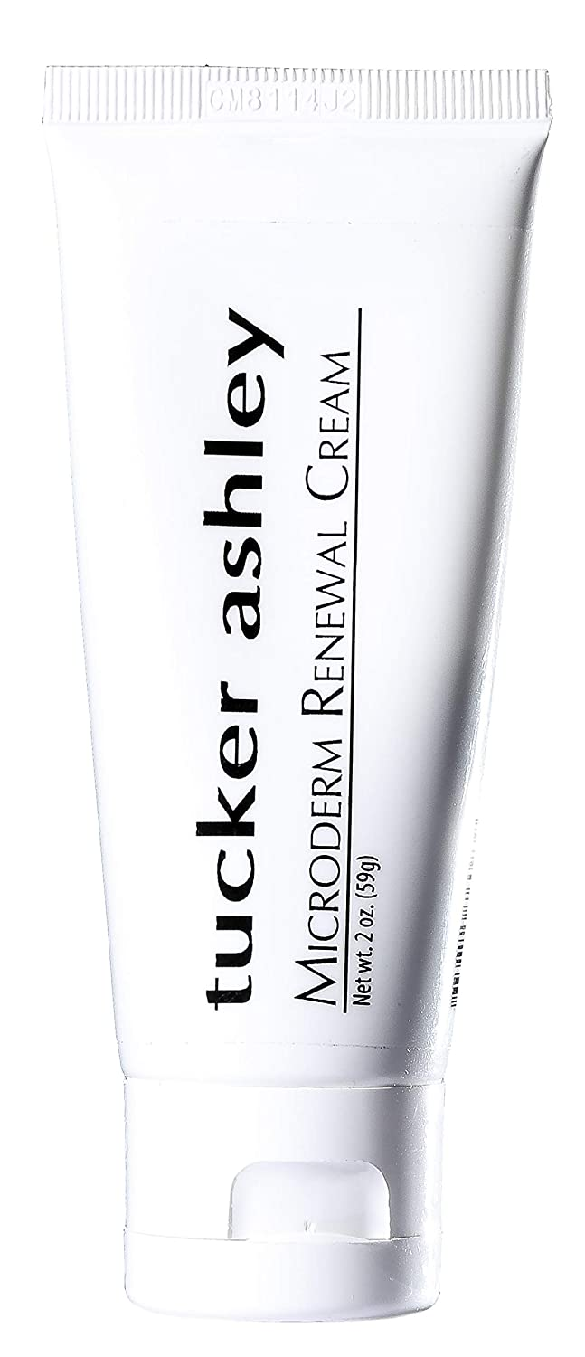 tucker ashley Microderm Renewal Cream, Lightweight, Dry and Aging Skin, Wrinkles and Lines, Nourishes and Hydrates, 3 oz