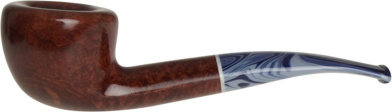 Savinelli Oceano 316 KS Smooth Tobacco Pipe - Bent Pot