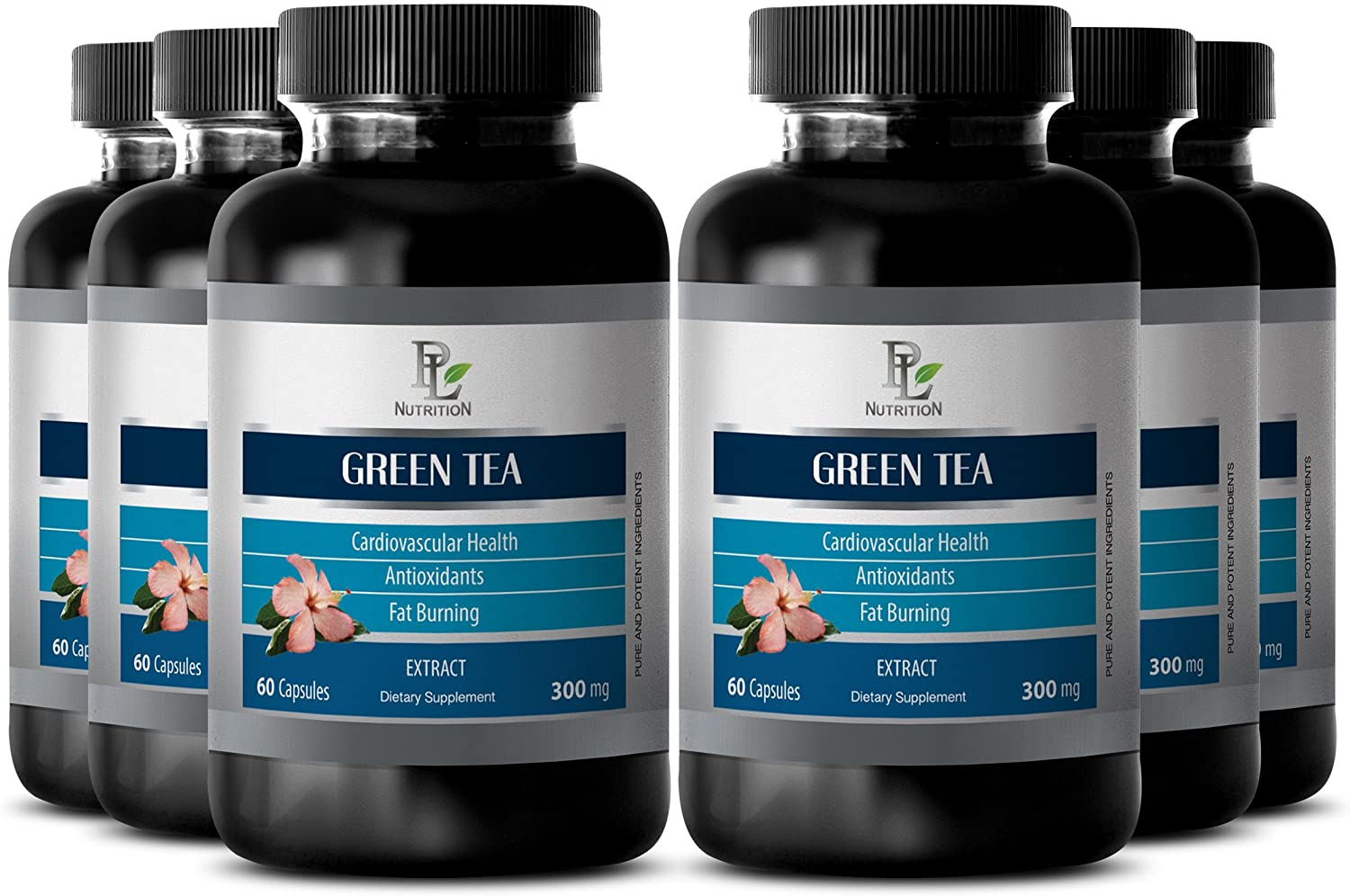 Camellia sinensis - Green Tea Extract - Digestive aid - 6 Bottles 360 Capsules