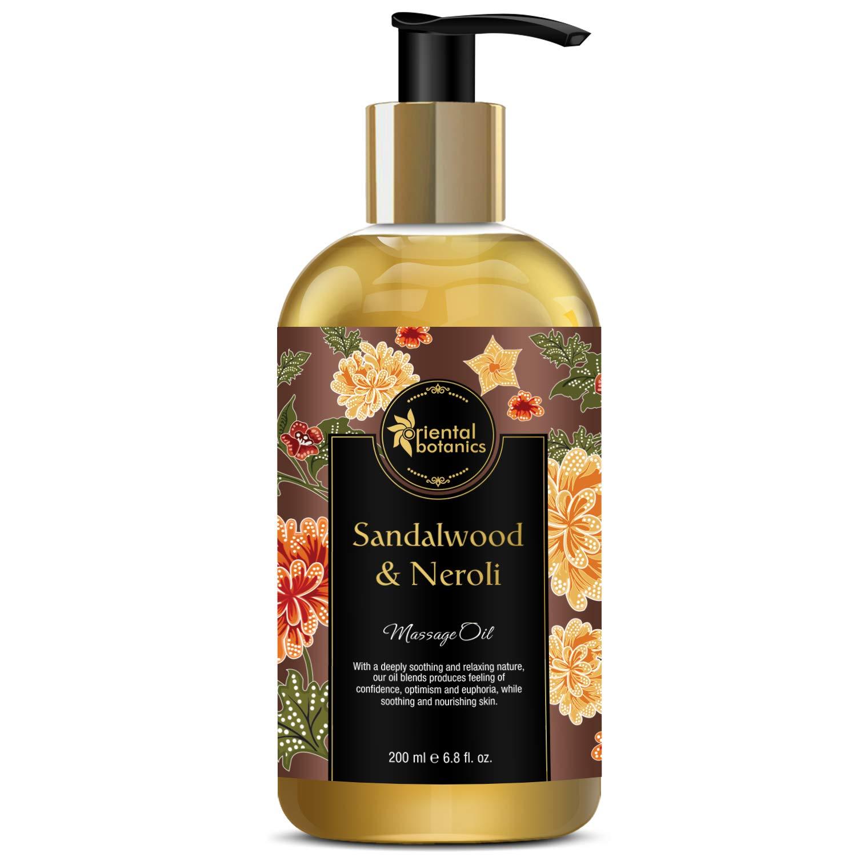 Oriental Botanics Body Massage Oil - 200ml (Sandalwood & Neroli)