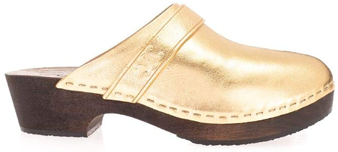 Céline Luxury Fashion Woman 337753093C35OR Gold Leather Loafers | Spring Summer 20