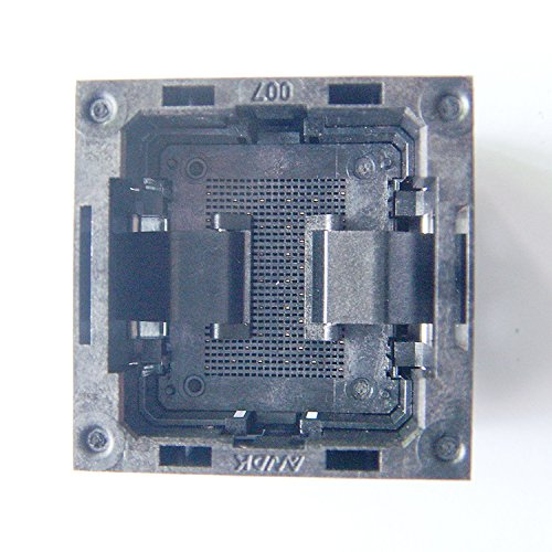 LGA52 Socket Open Top Structure IC Test Socket Burn-in Socket Size 14*18mm Programming Socket LGA Adapter Conversion Block