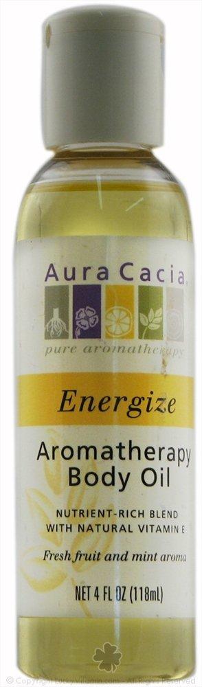 Aura Cacia Body Oil Energize Lemon 4 Fz