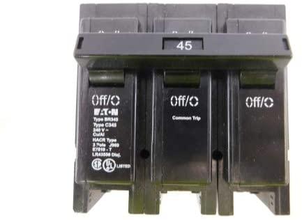 Cutler Hammer BR345 3P 45AMP 240V Circuit Breaker