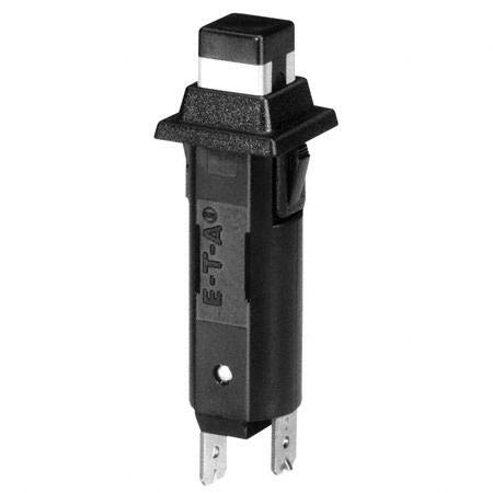 E-T-A Circuit Protection and Control 1110-F112-P1M1-8A, Circuit Breaker; Therm; Push; Cur-Rtg 8A; Snap-in Panel; 1 Pole; Vol-Rtg 250/28VAC/VDC
