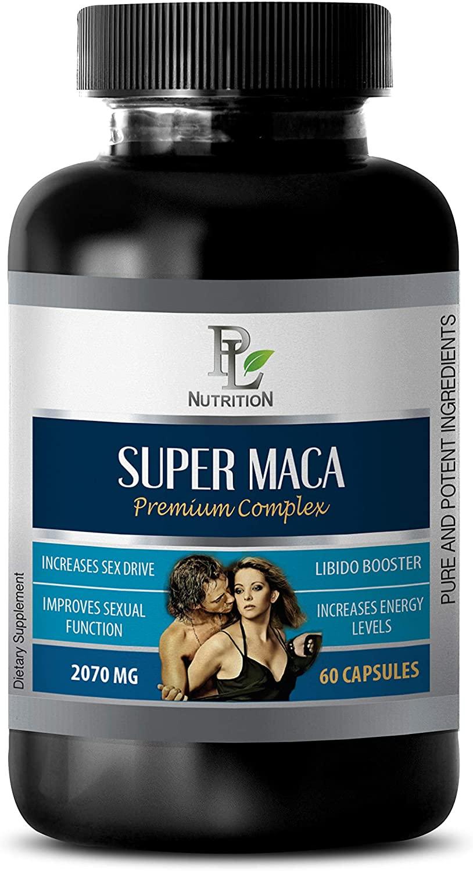Male Enhancing Vitamins - Super MACA - Premium Complex 2070MG - LIBIDO Booster - maca Root Extract Complex - 1 Bottle 60 Capsules
