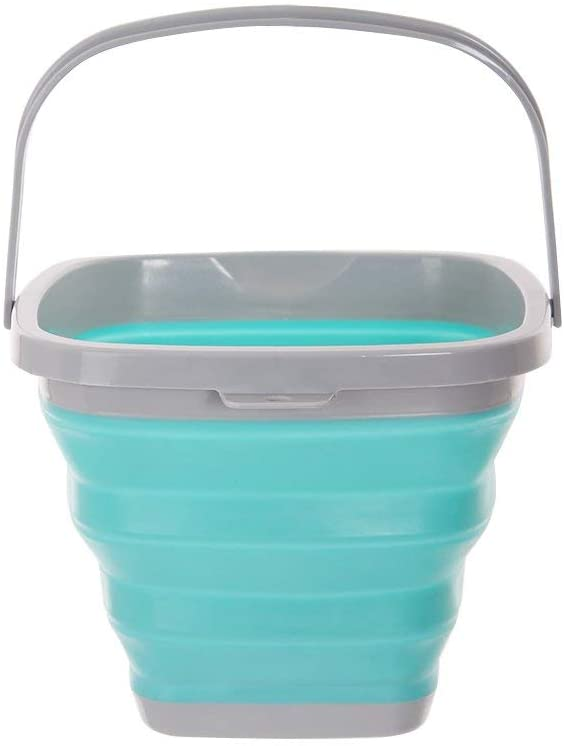 Multi Purpose Bucket Foldable Silicone for Outdoor Camping Barrel Travel Fish Car (10L)