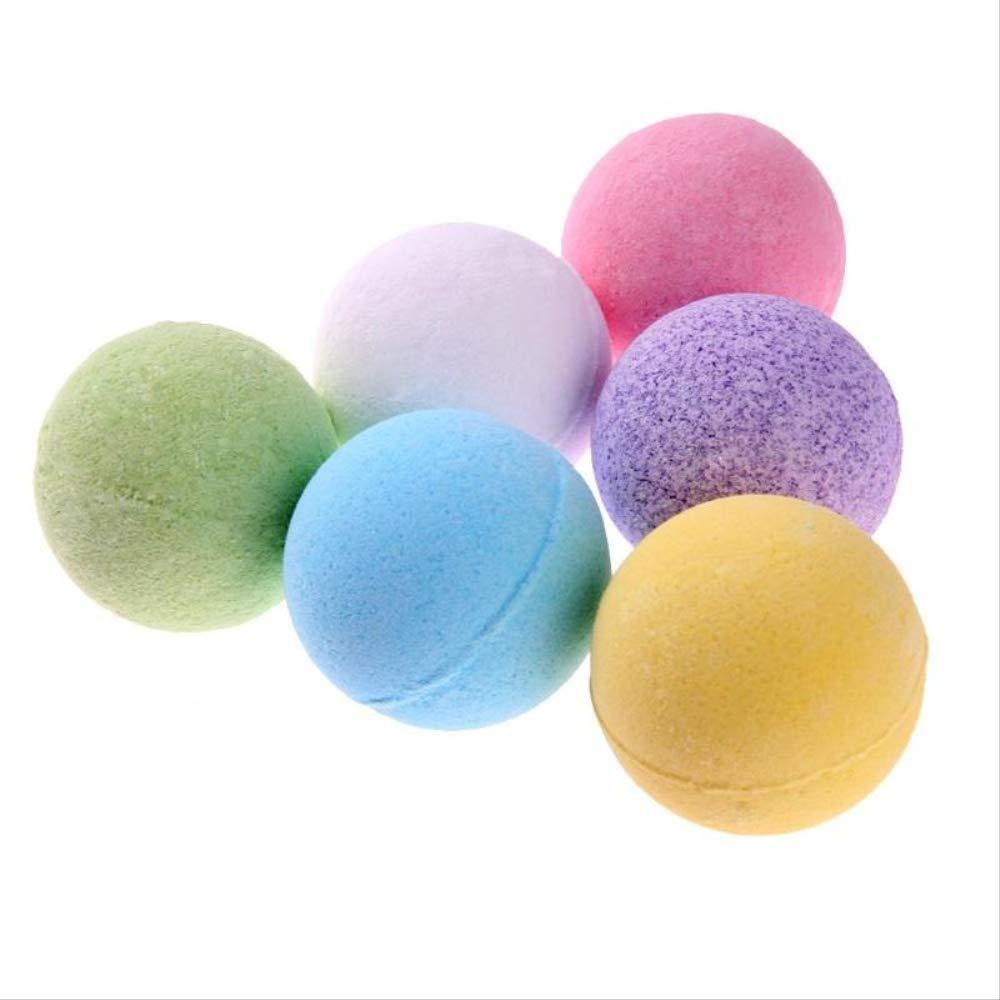 6pc Deep Sea Bath Salt Body Essential Oil Bath Ball Natural Bubble Bath Bombs Ball Rose Bath Shower Cleaning Ball Tool Random