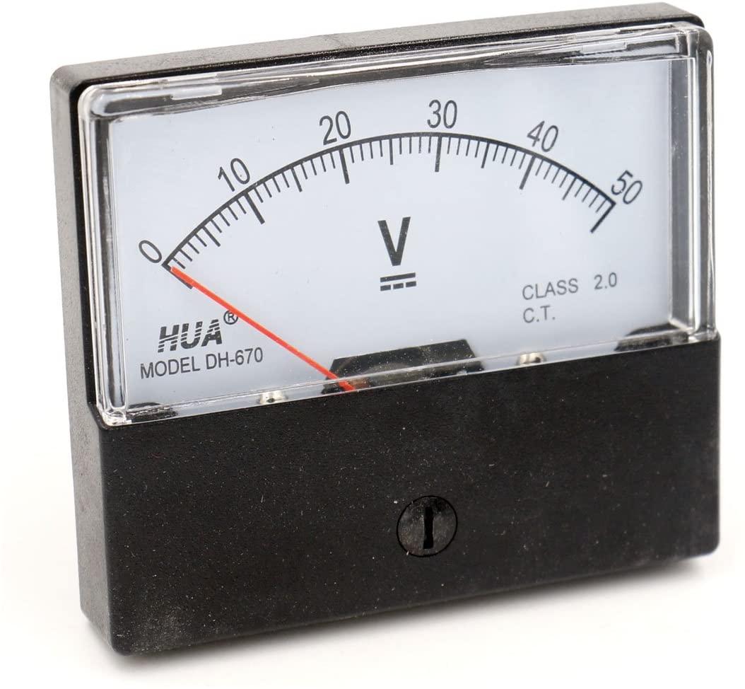 Baomain Voltmeter DH-670 DC 0-50V Analog Volt Panel Meter class 2.0