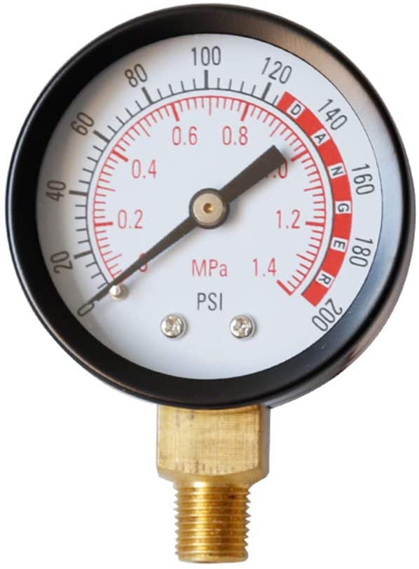 Rhfemd 0-200 PSI Pressure Gauge Air Gauge for Air Tank 1/8