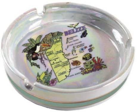 World By Shotglass Belize Porcelain Ashtray 5