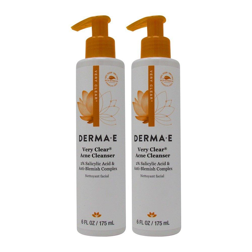 derma e Clear Skin 1 Problem Acne Skin Cleanser, 6 fl oz (175 ml) (Pack of 2)