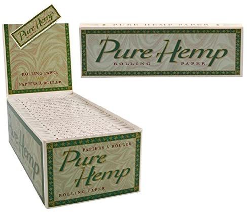 50pk Pure Hemp Single Wide Rolling Papers Display