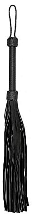 Ouch! by Shots America - Heavy Leather Tail Flogger - Black