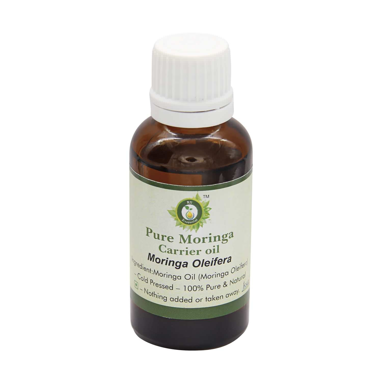 R V Essential Pure Moringa Carrier Oil 10ml (0.338oz)- Moringa Oleifera (100% Pure and Natural Cold Pressed)