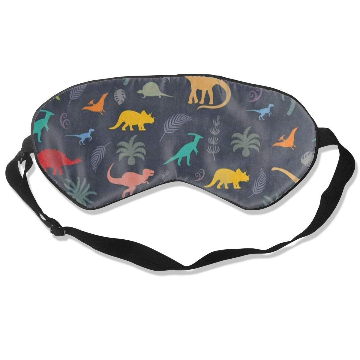 Custom Sleeping Mask Forest Palm Tree Dinosaur Adjustable Breathable Sleep Mask/Sleeping Eyes Mask/Sleep Eyes Mask/Eyeshade/Blindfold