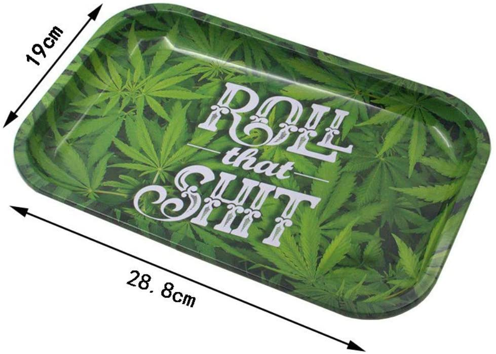 Anpay Metal Rolling Tray, HD Pattern Printed Tobacco Cigarette Holder Smoking Accessories Sturdy Lightweight Perfect for Home