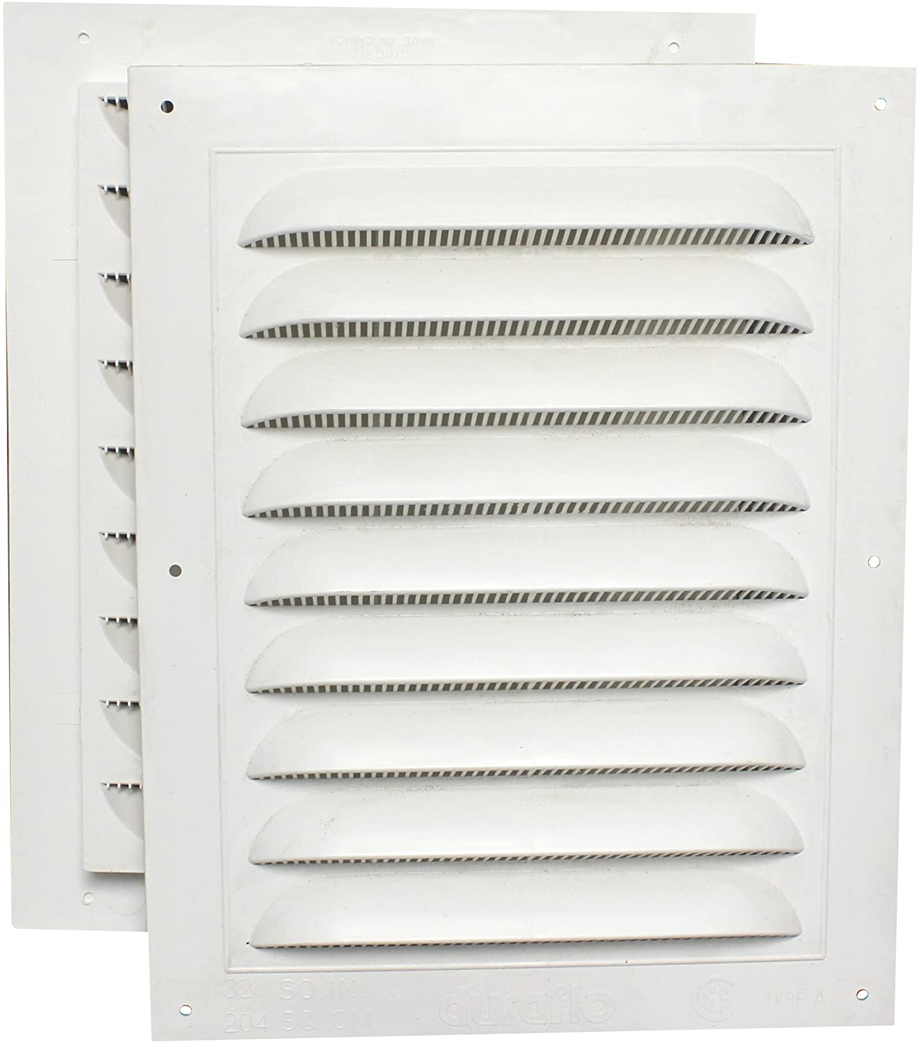 Duraflo 620812COMB Combined Gable Vent, 8-Inch X 12-Inch