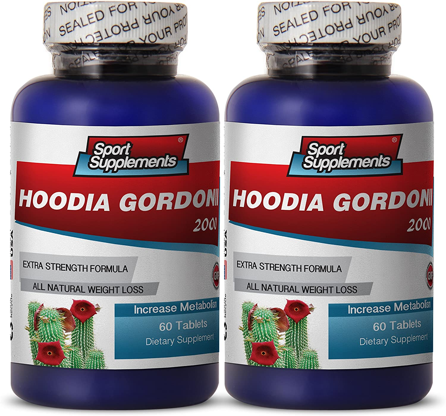 Hoodia Hoodia Gordonii Liquid - Hoodia Gordonii Cactus 2000mg Diet 120 Tablets - Control Weight Loss and Obesity with Herbal Hoodia Gordonii Supplement (2 Bottles)