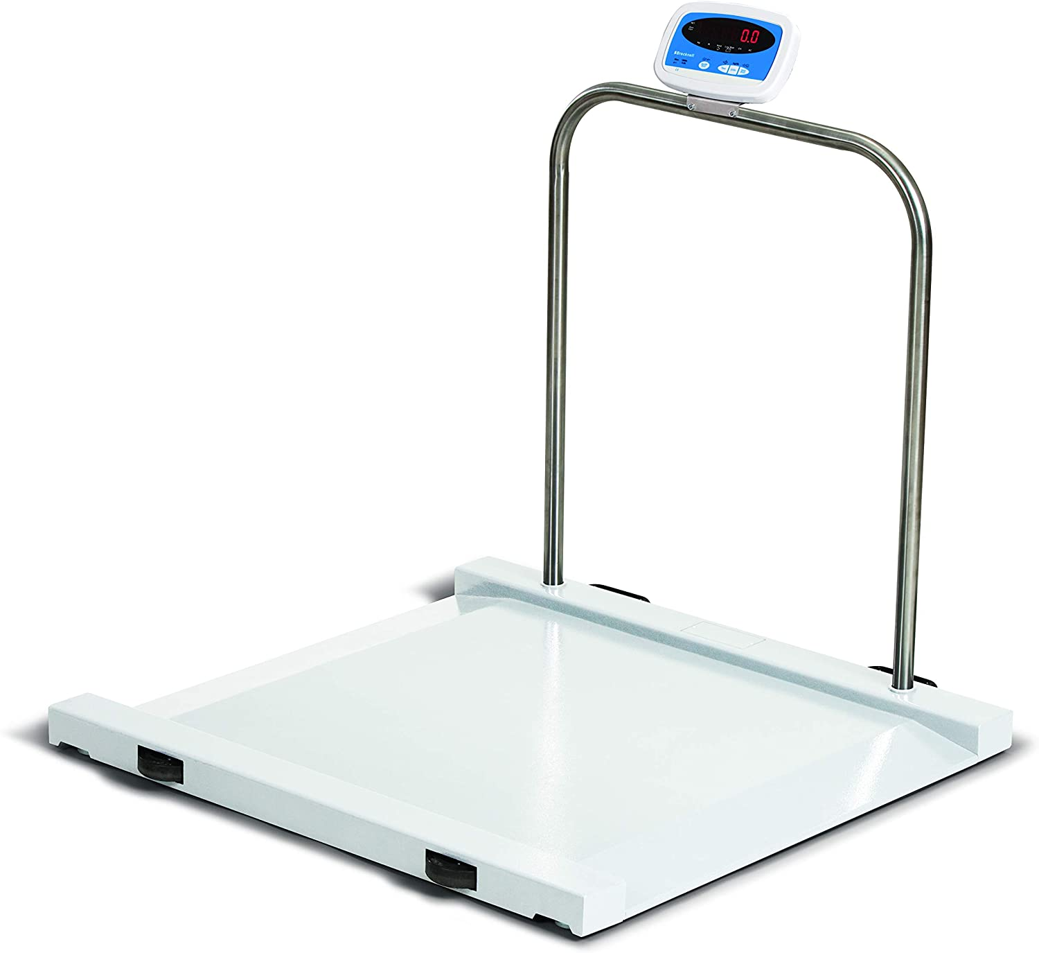 1000 LB x 0.5 LB Salter Brecknell MS-1000 Bariatric Handrail Medical Health Scale