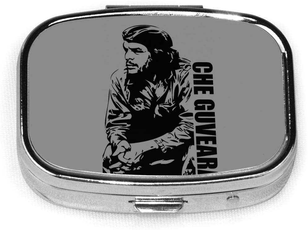 Wehoiweh Che Guevara 2.2x1.6x0.7 Inch Mini Medicine Box, Full Size Printing is Easy to Carry