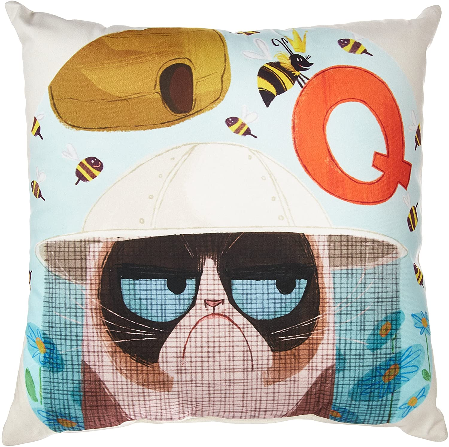 LiLiPi Q is for Queen Bee Decorative Accent Throw Pillow