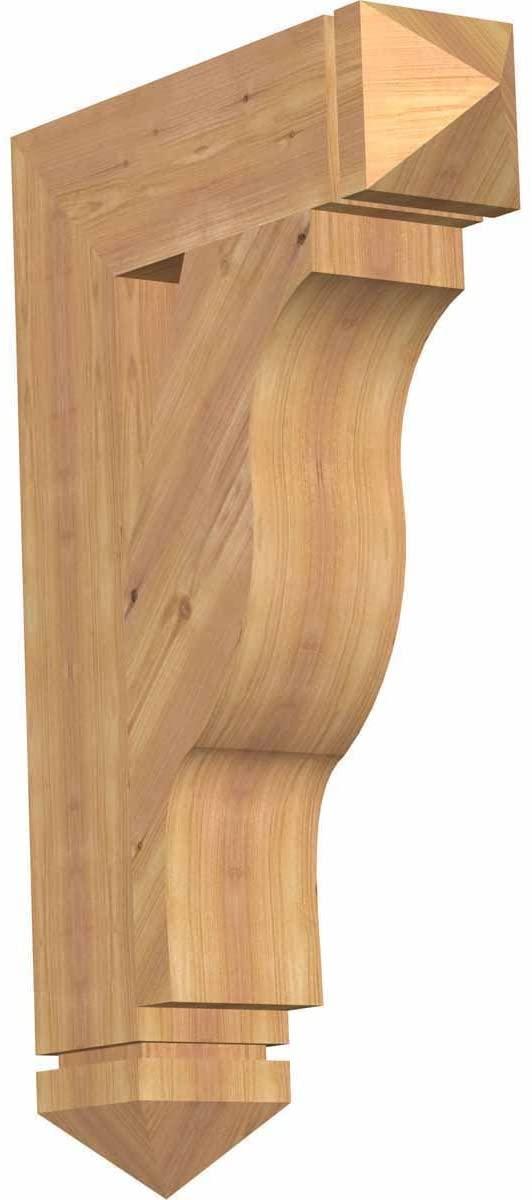 Ekena Millwork BKT06X22X34FST03SWR Funston Arts & Crafts Smooth Bracket, 5.5
