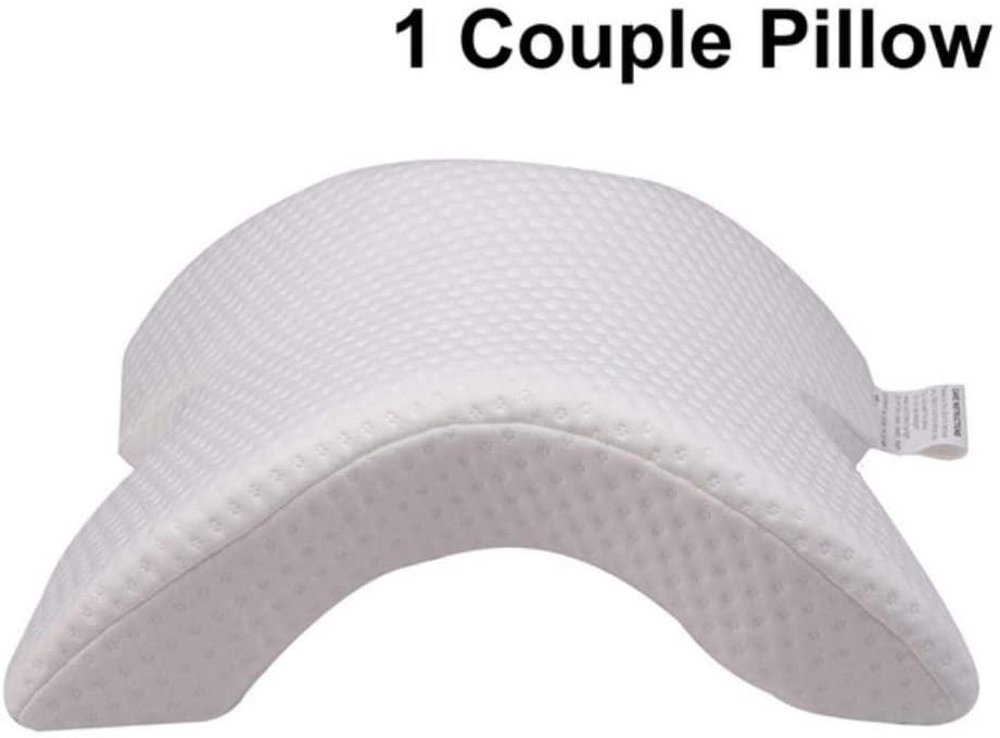 SHIJING Leg Positioner Pillows Memory Foam Bedding Neck Pillow Couple Sleep Leg Knee Bolster Pillow Butterfly Shaped Health Cervical Cushion,Couple Pillow
