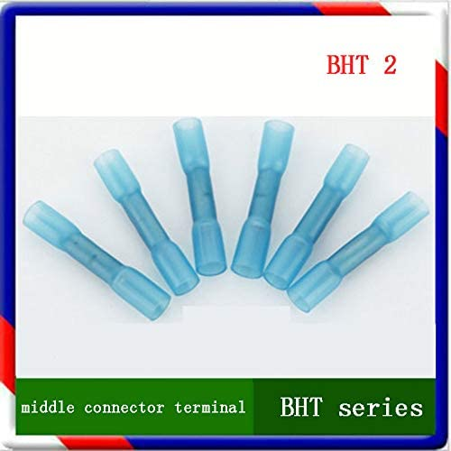 Onvas BHT2 blue color heat shrink butt 20pcs Crimp Terminals Insulated Electrical Wire Cable Connectors