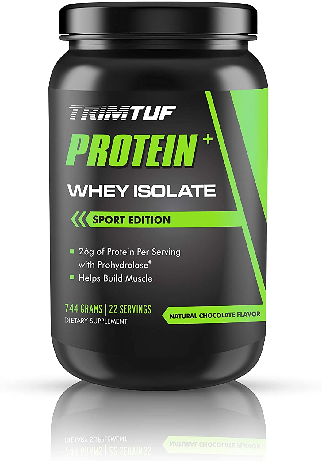 TRIMTUF Whey Protein Isolate Plus ProHydrolase® - Premium Filtered Highest Quality Protein - Great Taste/Low Calories - 100% Absorption Into Muscles - 22 Top Quality Servings