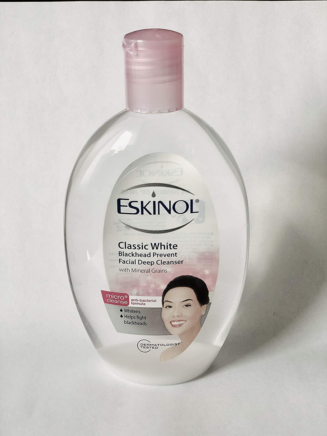 Lot of 2 Eskinol Naturals Classic White with Mineral Grains Facial Cleanser 7.6 Oz - 225 ml Bottle