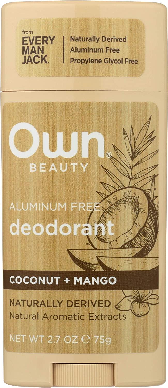 Own, Deodorant Aluminum Free Coconut & Mango, 2.7 Ounce