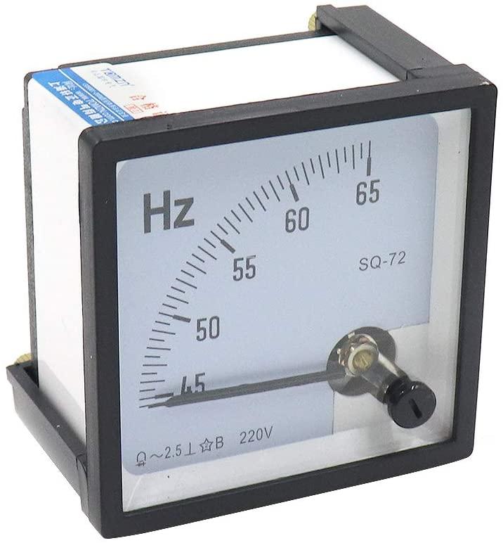 Mecion Pointer Type Analog Panel Hertz Meter 45-65Hz Frequency Tester SQ72