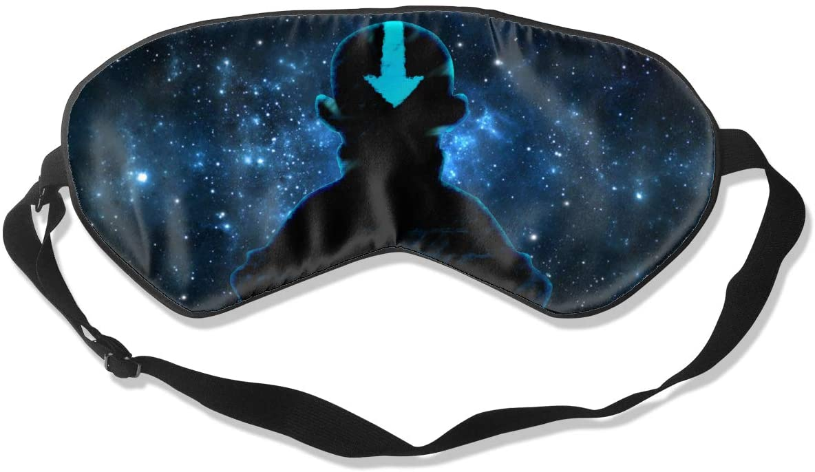 WushXiao Luanelson Avatar The Last Legend Fashion Personalized Sleep Eye Mask Soft Comfortable with Adjustable Head Strap Light Blocking Eye Cover