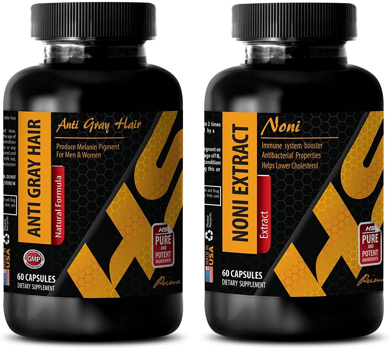 Energy Booster - Anti Gray Hair – NONI Extract - noni Juice Organic - Combo - 2 Bottles